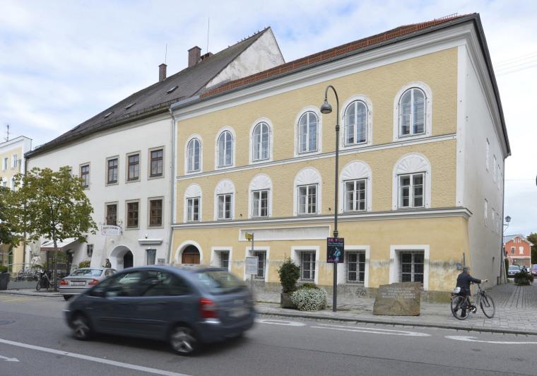 Image: Adolf Hitler's birth house in Braunau am Inn, Austria