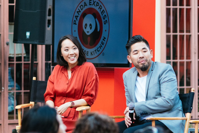 Panda Restaurant Group CMO Andrea Cherng and architect Alvin Huang, AIA.