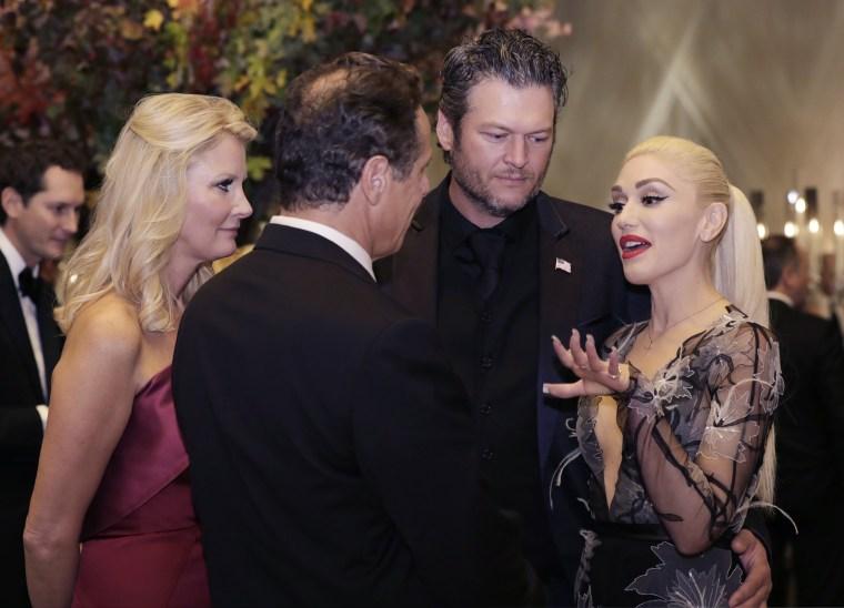 Image: Blake Shelton, Gwen Stefani, Andrew Cuomo, Sandra Lee