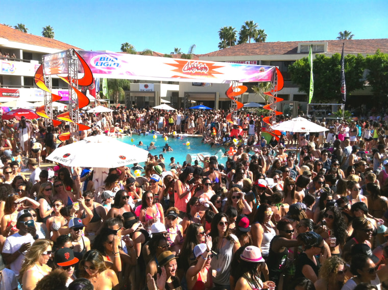 A pool party at the annual Dinah Shore Weekend