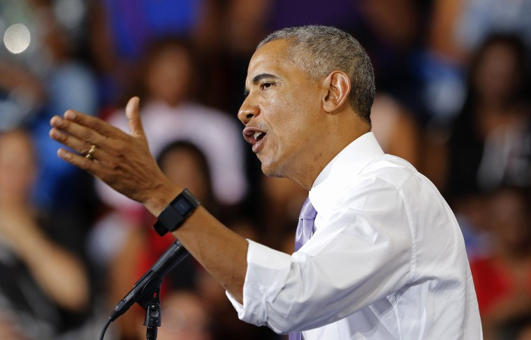 Image: President Obama Campaigns For Hillary Clinton In Florida