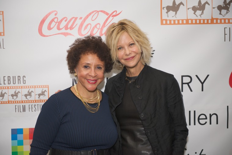 Sheila Johnson and Meg Ryan at the Middleburg Film Festival, Friday October, 23, 2015