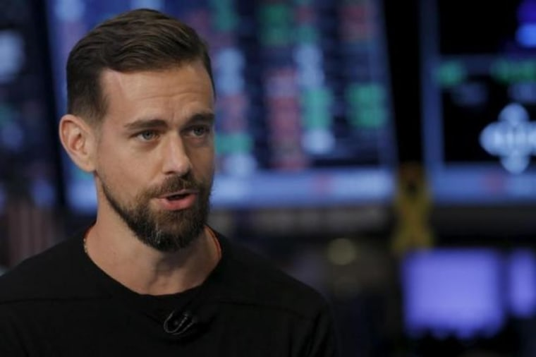 Jack Dorsey, CEO of Square and CEO of Twitter, speaks during an interview with CNBC following the IPO for Square Inc., on the floor of the New York Stock Exchange