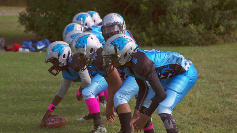 Researchers found changes in the brain tissue of youth football players after just one season.