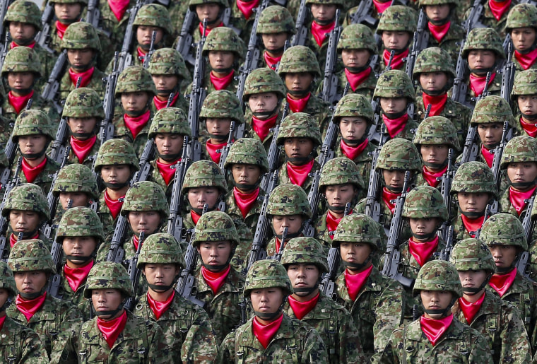 Image: Japan's Self-Defense Forces military parade