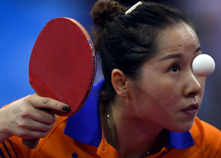 Image: TOPSHOT-TABLE-TENNIS-ECH-HUNGARY-NED-SWE