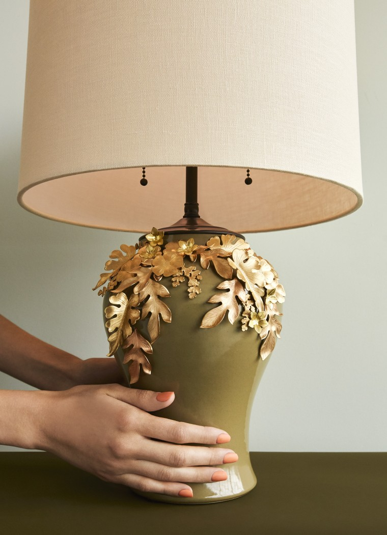 Brass Leaf Lamp
