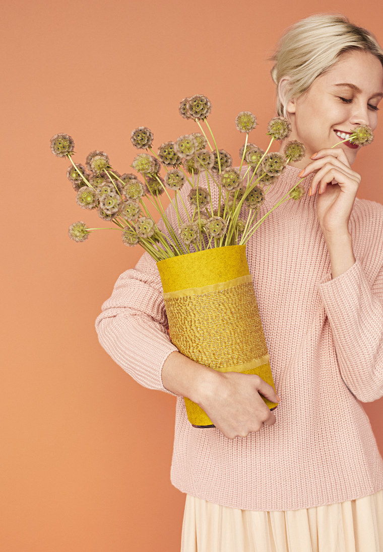 Couture-Sleeved Vase