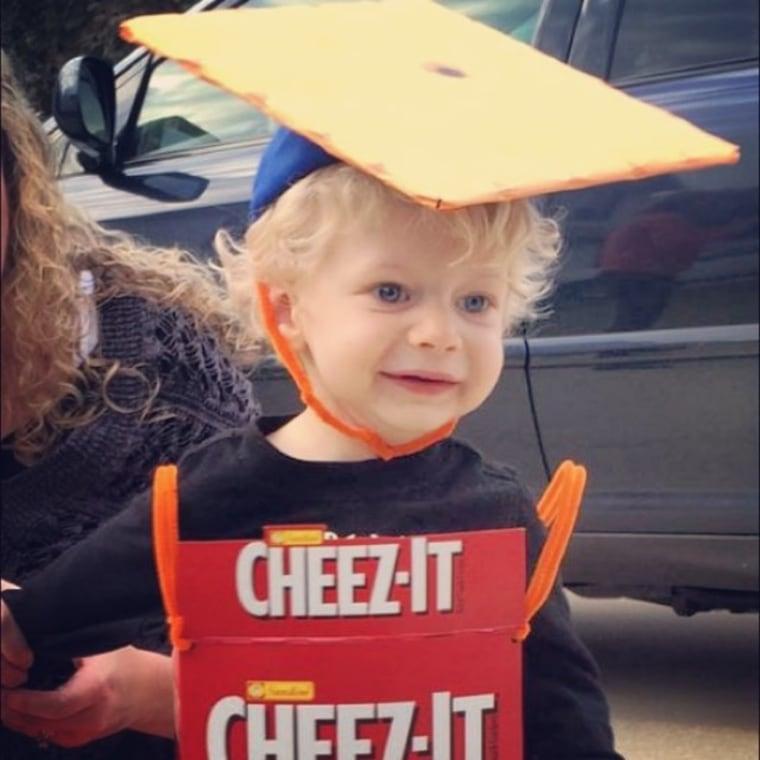 Baby Cheez-It costume