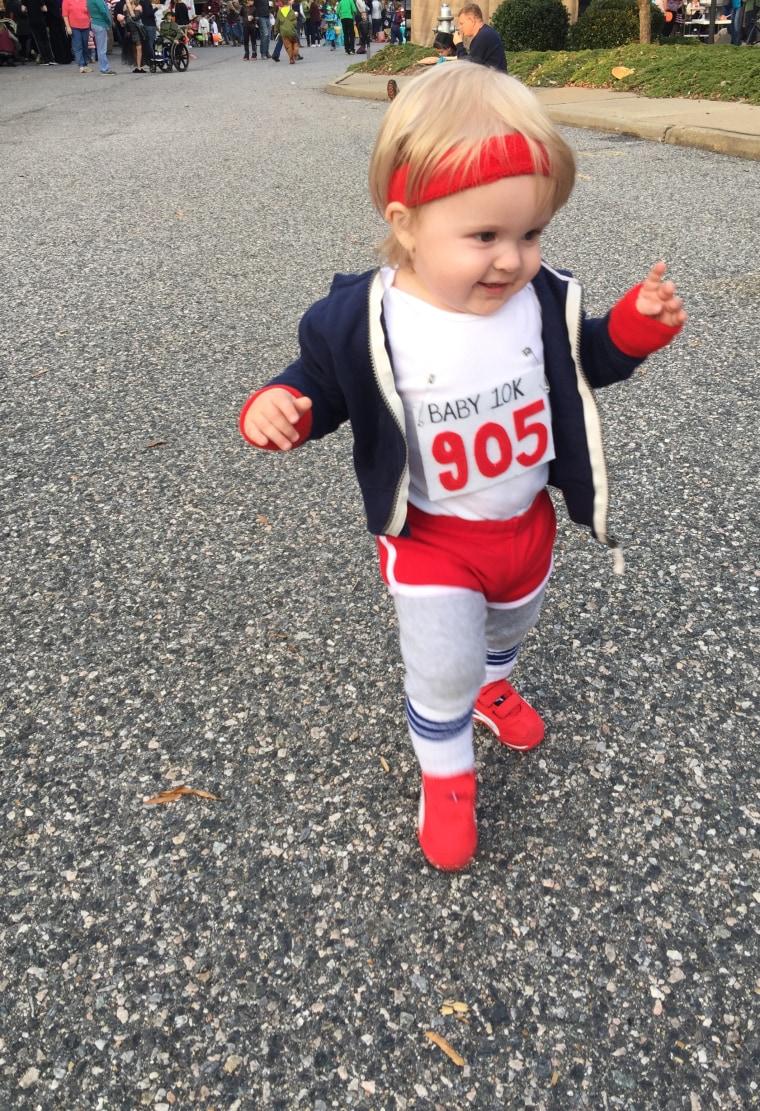 Marathon runner costume