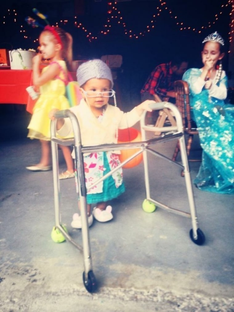 """""""Littlest old lady"""" costume for young girl"""