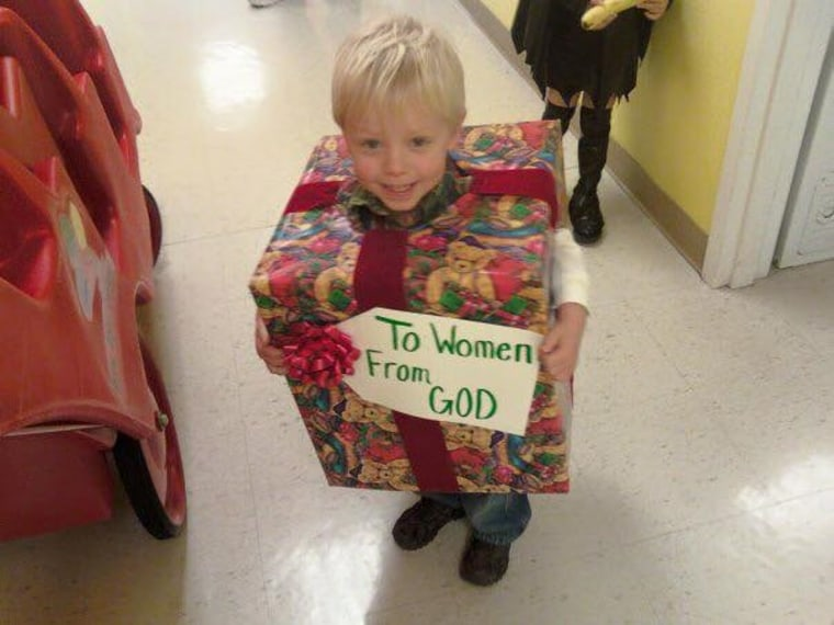 """""""God's gift to women"""" costume for little boy"""