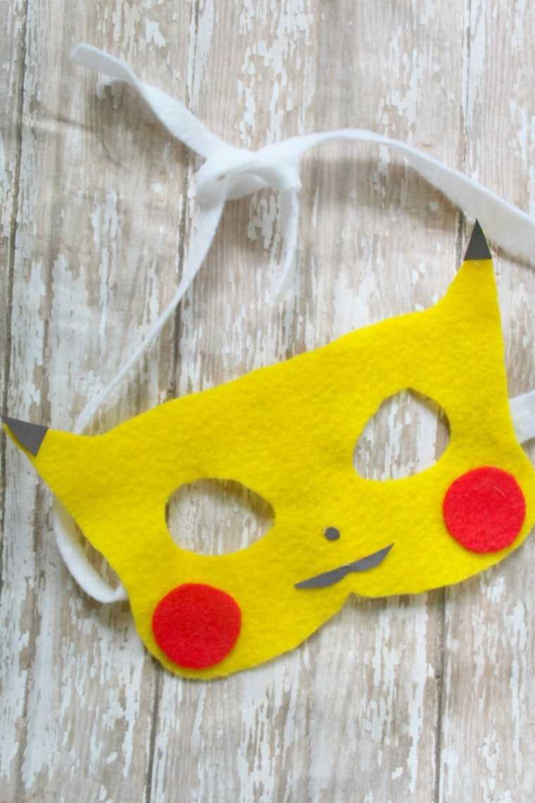 Pikachu baby costume mask