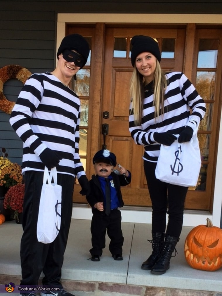 Cops and robbers family Halloween costume