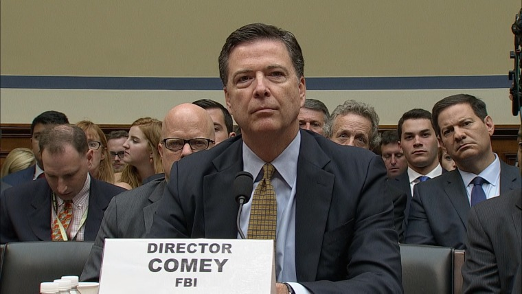 Image: FBI Director James Comey testifies before the House Oversight and Government Reform Committee