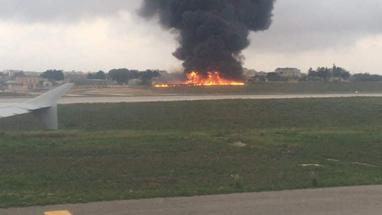 Airplane crashes during takeoff from the Mediterranean archipelago of Malta early Monday
