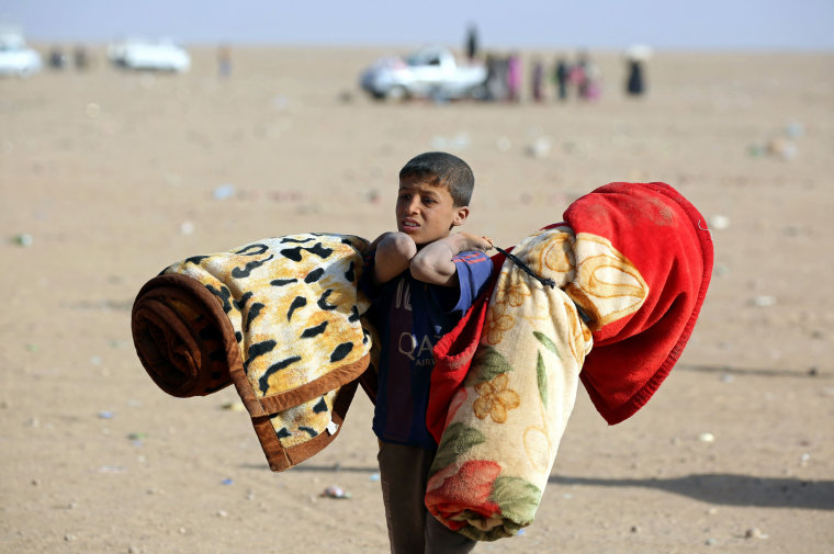Image: TOPSHOT-SYRIA-IRAQ-CONFLICT-REFUGEES