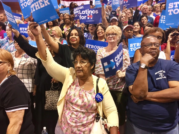 A Latina rallies for Clinton at Michelle Obama event in Phoenix, Arizona