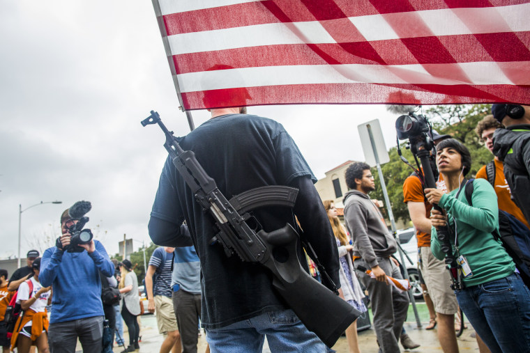 Image: Gun activists march close to The University of Texas campus