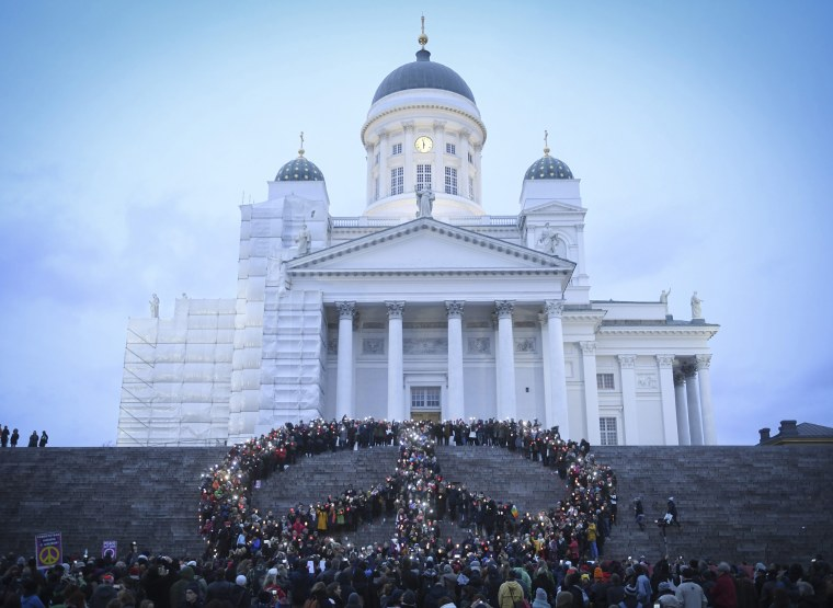 Image: Save Syria peace march in Helsinki