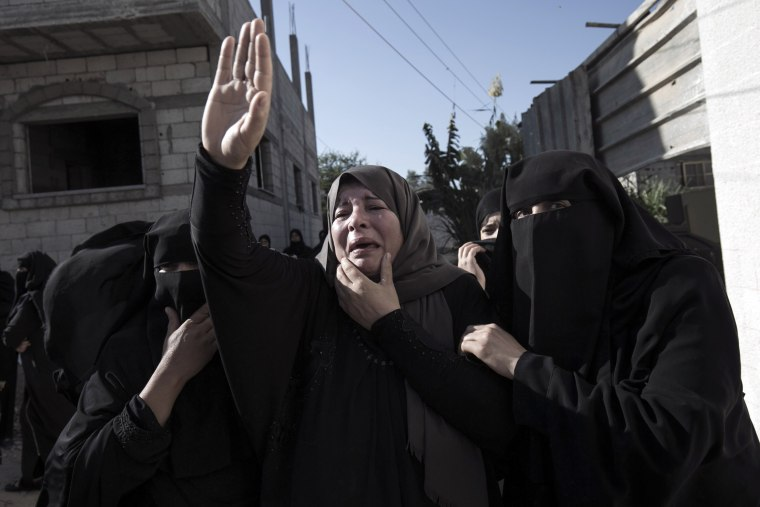 Image: TOPSHOT-PALESTINIAN-GAZA-CONFLICT-TUNNELS-FUNERAL