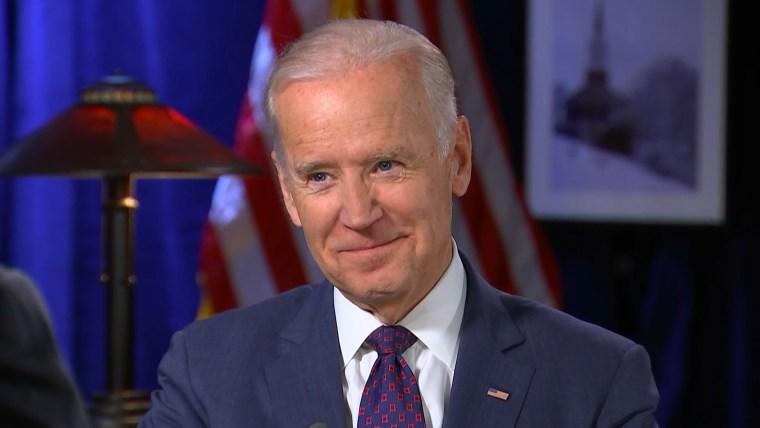 Image: Vice President Joe Biden is interviewed by Chris Matthews