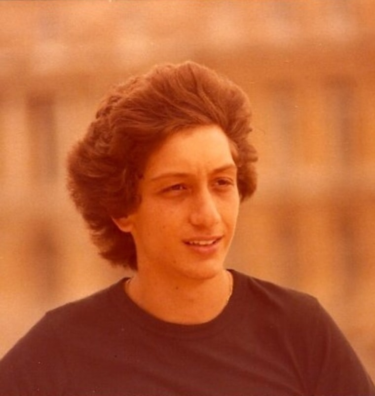 Broadway writer/director Moises Kaufman as a young actor.