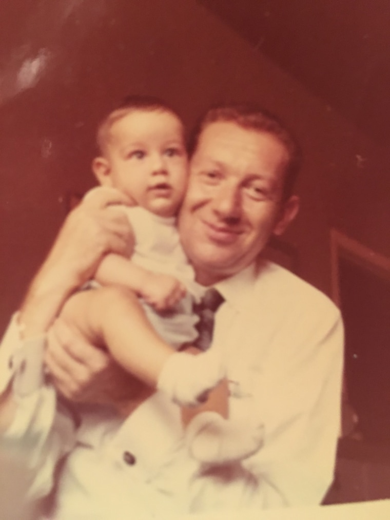 Undated photo of Moises Kaufman and his father Jose.