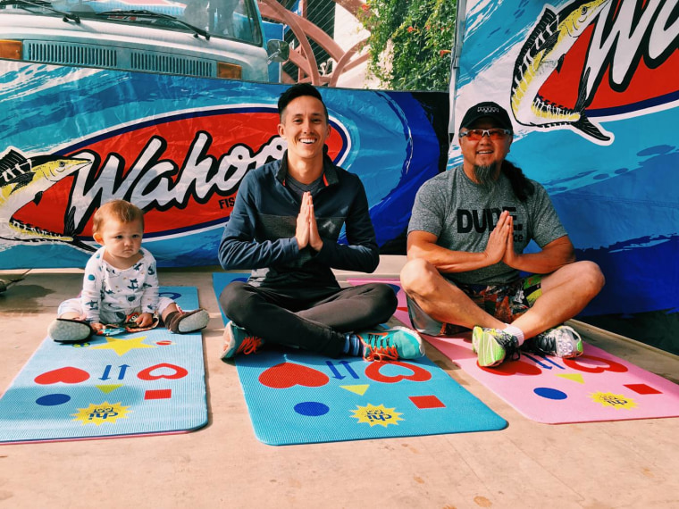 Wahoo's Fish Taco CEO Wing Lam and his sons, Greg and Levi.