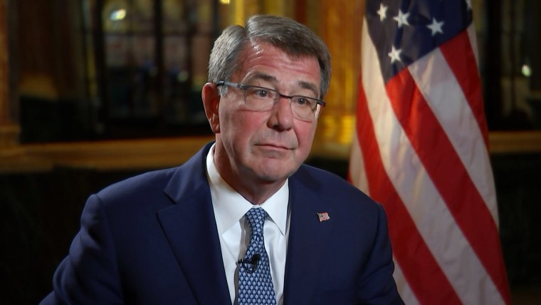 Image: Defense Secretary Ash Carter speaks about an assault on the ISIS stronghold of Raqqa