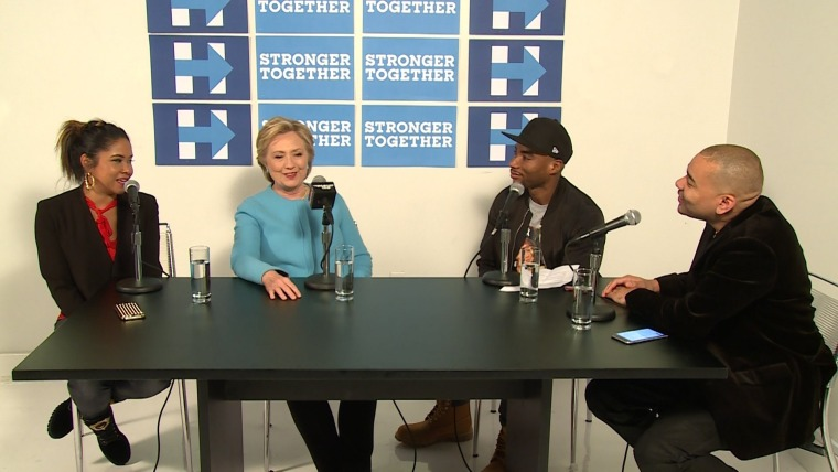 Hillary Clinton appears on The Breakfast Club radio show.