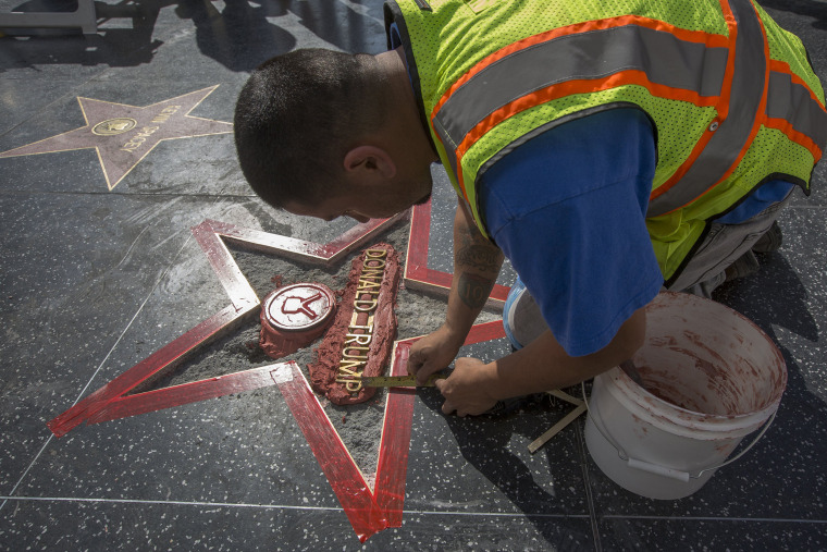 Image: BESTPIX - Donald Trump's Star On The Hollywood Walk Of Fame Defaced