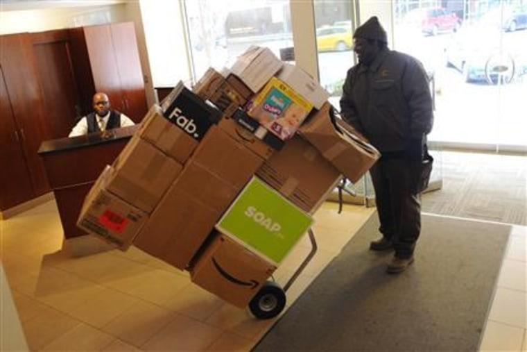 New York doormen swamped by online holiday sales