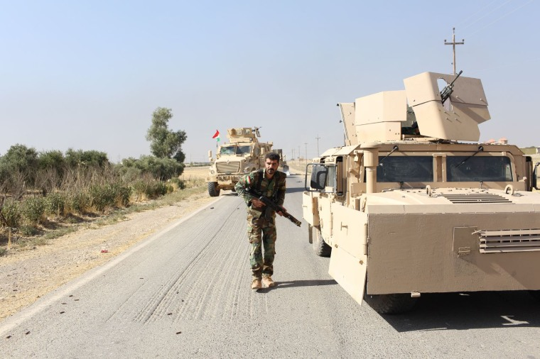 Awara moves into position as the convoy comes under attack from ISIS fighters.
