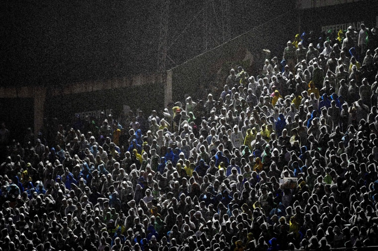 Image: Supporters of Brazilian Chapecoense cheer their team during the 2016 Copa Sudamericana quarterfinals
