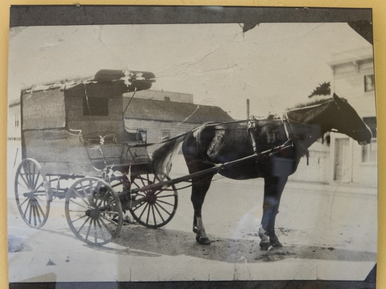 When Ching Lee Laundry opened in 1876, the Yee family rode in horse-drawn carriages to pick up orders.