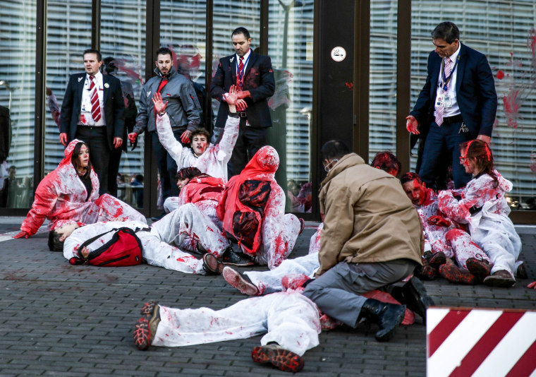 Image: Protest against CETA) deal in Brussels