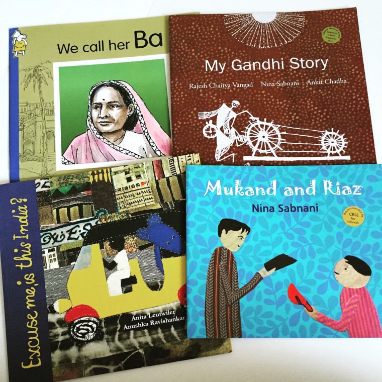 """South Asian children's books """"We Call her Ba"""" and """"Mukhand and Riaz."""""""