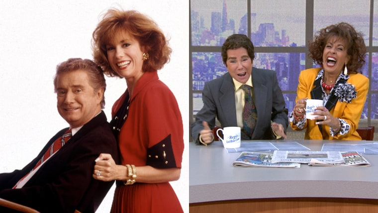 Kathie Lee and Hoda Kotb as Kathie Lee Gifford and Regis