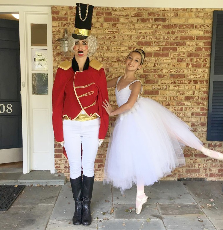 One of Julie Mudrick's favorite costume this October is when she dressed as the Nutcracker and daughter Isabella, 13, dressed as a ballerina. Mudrick only takes 30 minutes for each costume.