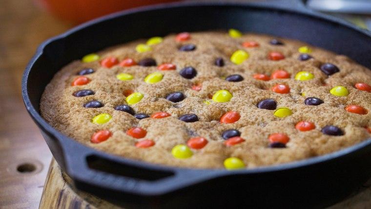 Halloween Skillet Cookie