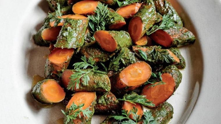 Roasted Carrots with Carrot Top Chimichurri