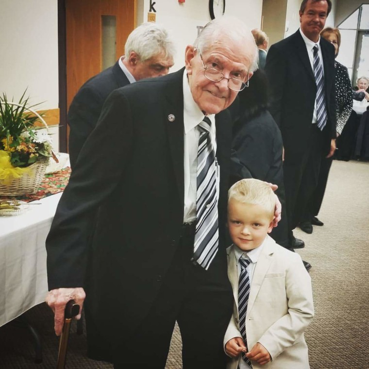 """Erling's son said his father was always good with children. """"It was just natural to be buddies with him."""""""