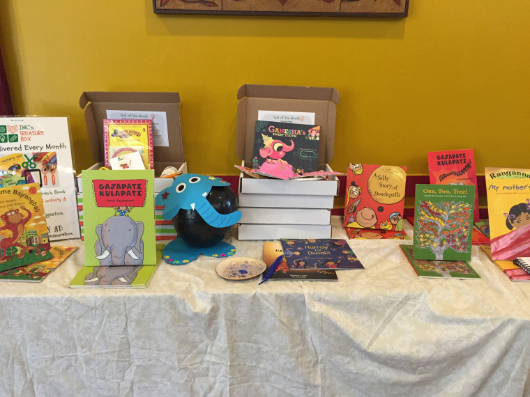 A few book titles that will be on display at the Festival of South Asian Children's Content.