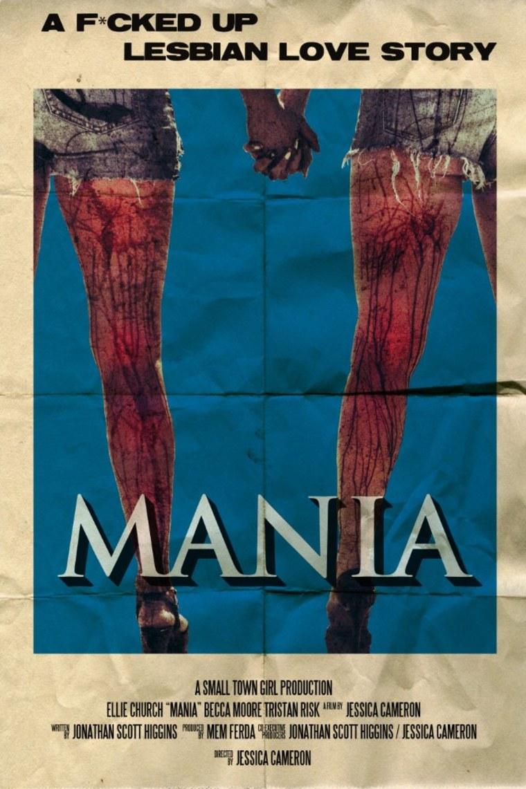 """""""Mania"""" film poster."""