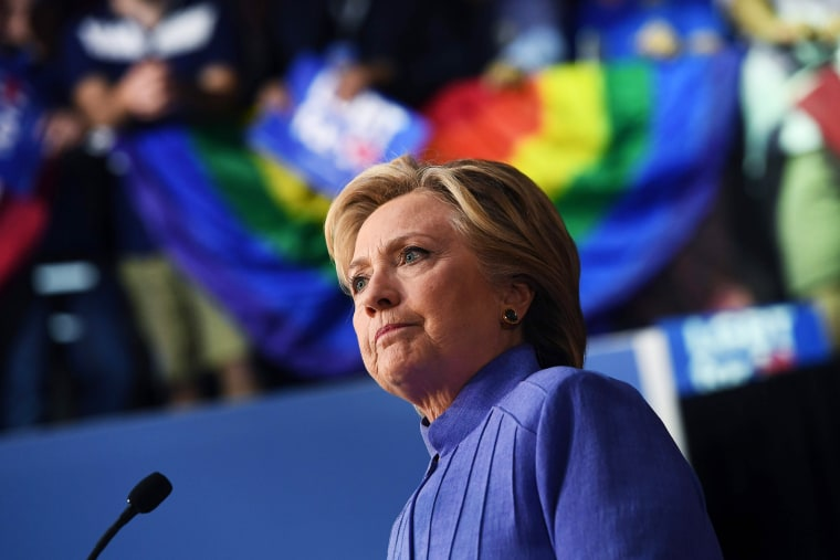 Image: Clinton speaks at a Community in Unity rally in Wilton Manors