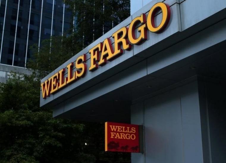 A Wells Fargo Bank is shown in Charlotte, North Carolina
