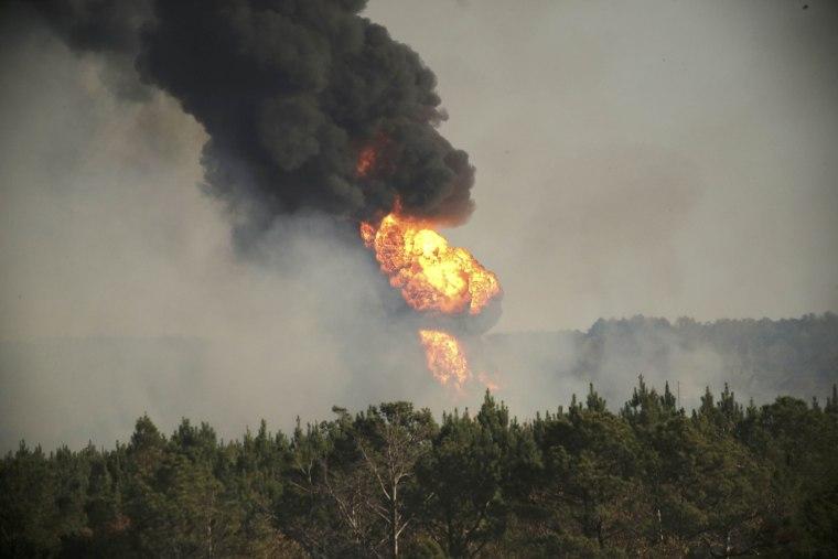 Pipeline Blast in Alabama Injures 7