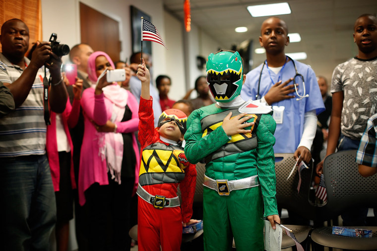 Image: Children Attend Halloween-Themed US Citizenship Ceremony
