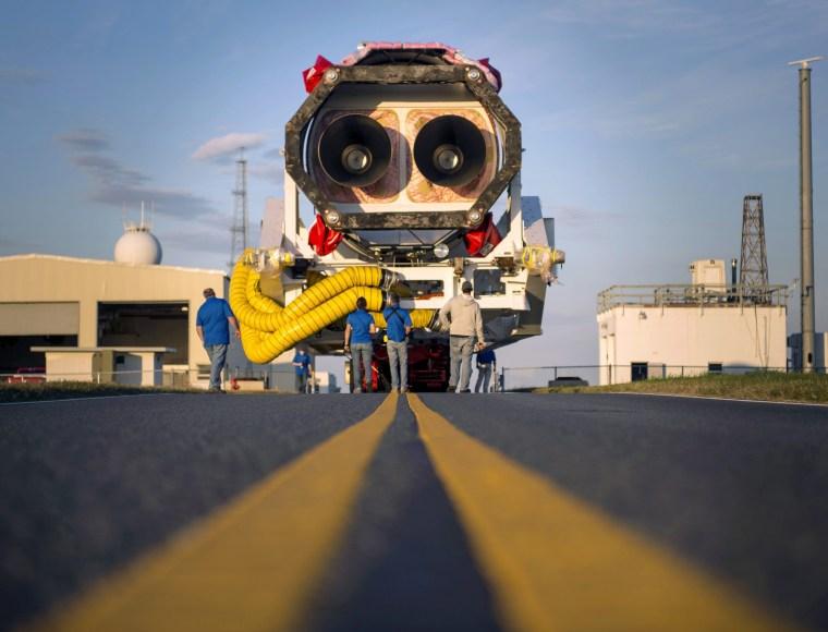 Image: Antares Rocket Rollout at NASA Wallops in Virginia